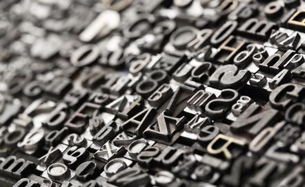Buchdruck, Buchstaben