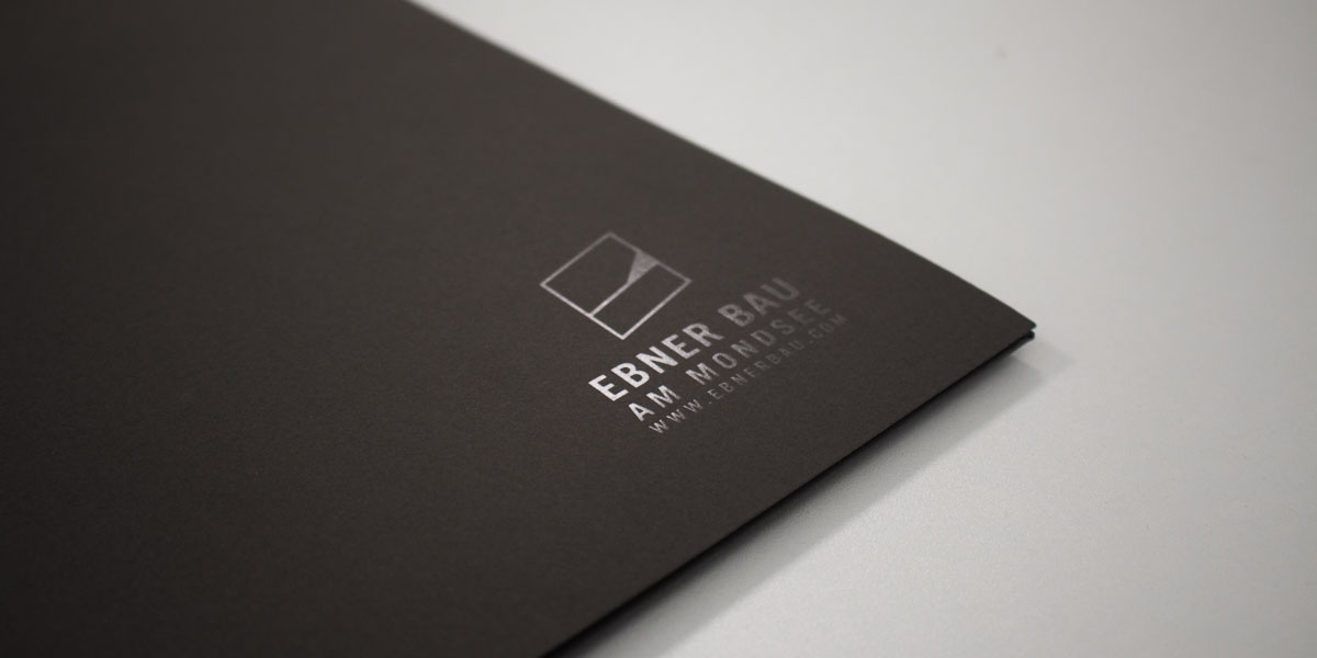 Ebner Bau Logo auf Mappe