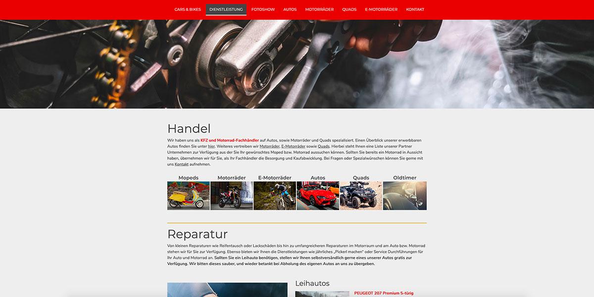dsignery_Cars&Bikes_Webseite_Dienstleistung
