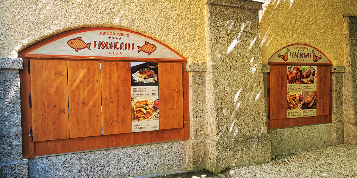 dsignery Birngrubers's Fisch & Huhn vom Grill